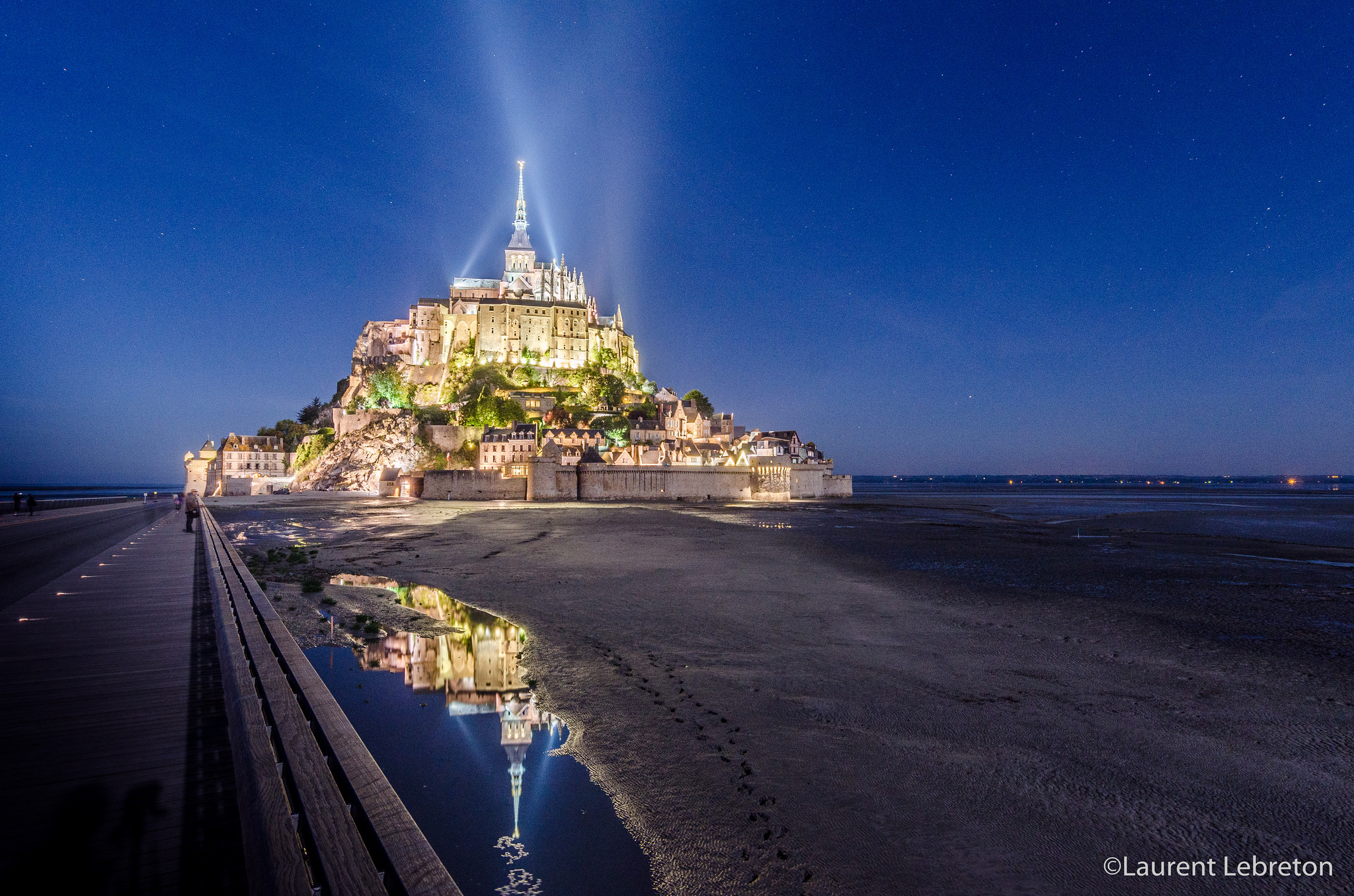 Traversée nocturne : Mont Saint-Michel